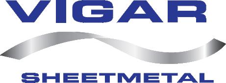 vigar sheetmetal logo blue and silver